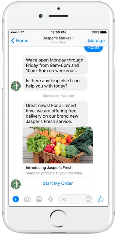 Facebook Messenger Sponosred Messages